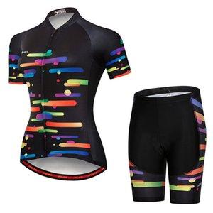 JPOJPO 자전거 의류 직업 MTB 자전거 저지 세트 roupa의 ciclismo 여름 여성 짧은 소매 야외 자전거 스포츠웨어에 맞게