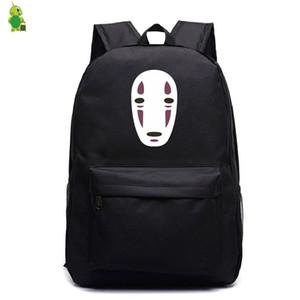 Ранцы Ghibli Унесенные Нет Face Man Рюкзак для подростков Женщины Мужчины Laptop Backpack Дети книги Сумки Casual путешествия