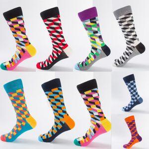 2019 Nueva Moda Casual Algodón Calcetines diseño multicolor de última moda calcetines para hombre