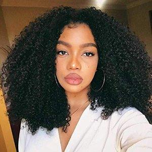 흑인 여성 싼 arican 미국 360 레이스 정면 가발 130 % 밀도 몽골 변태 곱슬 레이스 프런트 인간의 머리 가발