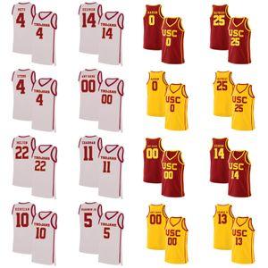 Usc Trojans Jerseys Onyeka Okongwu Jersey Nick Rakocevic Kyle Sturdivant Daniel Utomi Elijah Weaver Mens Basketball Jerseys Personal Stitched