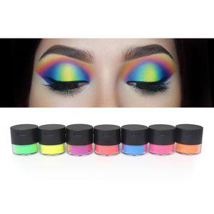 Nenhum Logotipo Glitter Sombra Em Pó 7 cores Neon Sombra de Olho Cosméticos Pó Solto Néon À Prova D 'Água Olhos de Maquiagem de Alta Qualidade