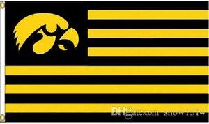 Iowa Hawkeyes USA Università Bandiera Banner 150CM * 90cm 3 * 5FT poliestere personalizzato Banner Sport Bandiera Decorative
