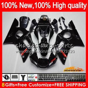 Tulum İçin YAMAHA YZF600 parlak siyah YZF600 600cc YZFR6 YZF R6 R6 58HC.1 YZF 600 YZFR6 98 99 00 01 02 1998 1999 2000 2001 2002 Fairing