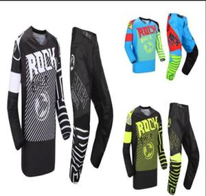 The new ROCK BIKER motorcycle locomotive anti-fall suit mountain off-road racing biker + pants off-road motorcycle racing suit