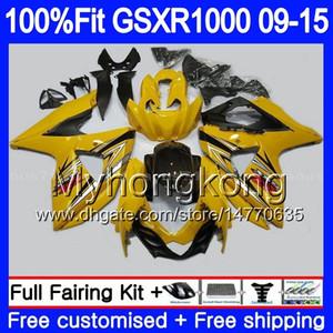 Einspritzung für SUZUKI GSXR 1000 2009 2010 2011 2012 2014 2015 2016 302HM66 GSXR1000 Rahmen Hot Gelb K9 GSXR1000 09 10 11 12 13 15 16 Verkleidung
