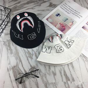 Imp Boys Girls Basin Hats Versión coreana Baby Beats Otoño Nuevo Fisherman Sun Hat Cap Shark Mouth Outdoor Parenting Niños Adultos Gorras