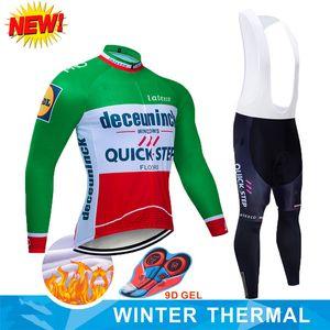 InvierNo 2019 Equipo Quick Step Ciclismo Chaqueta 9D Almohadilla Bicicleta Pantalones ROPA CICLISMO Hombre Térmico Polar Maillot, Culotte de