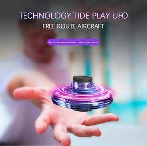 Flynova المغازل معظم خداع المغادرة اليد الطائر سبينر البسيطة UFO LED الطائرة بدون طيار الصحن الطائر لعب تخفيف الضغط لعبة OOA7400