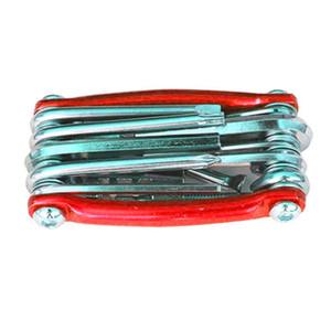 11po 1 multi-fonctions de vélos Repair Tool Set 187g rouge, or, bleu, noir T25
