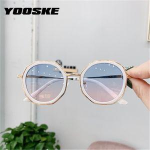 YOOSKE 2020 Round Kids Sunglasses Girls Boys Fashion Sun Glasses Children Clear Gradient Sunglass Shades Eyewear