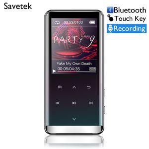 Lecteur MP3 HiFi Savetek Lossless 8 Go 16 Go Mp3 Sport Walkman Lecteur de musique Lecteur audio Touche tactile avec radio FM Enregistreur vocal