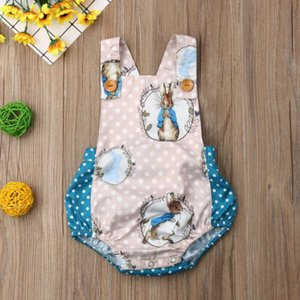 Pudcoco 2019 Summer Toddler Baby Boy Girls Easter Bunny Bodysuit Jumpsuit Blue Rabbit Cute Outfits