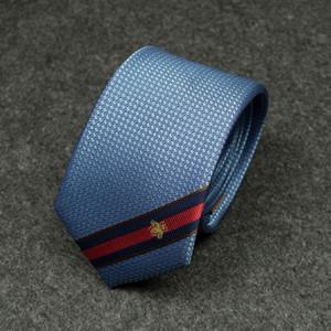 Повседневная Bee Stripes Галстук Личность Color Matching High-End Галстук Открытый мужские и женские дизайнерские галстуки Бесплатная доставка