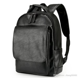 Rucksack Laptop Men Backpack Crazy2019 رجل حقائب الظهر السوداء جذابة للأطباق المدرسية الذكور حقائب سوداء الأعمال جلدية Backpac osql