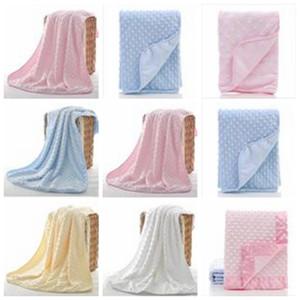 Çanta Katı Yatak TLZYQ738 Sleeping Bebek Battaniye Minky Kabarcık Dot Battaniyeler Kundak Hücresel Pamuk Bezelye Battaniyeler Yumuşak Köpük Atma Kilimler