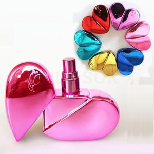 25ml Herz Glasduftstoff-Flaschen geformt mit Spray nachfüllbar Leere Parfümzerstäuber für Frauen 6COLORS dc793