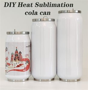 DIY Heat Sublimati 12oz Stainless Steel Cola cans Mug Soda Can Coffee Cola Cups Drink Cans Double Vacuum Insulated Thermos Coke Jar
