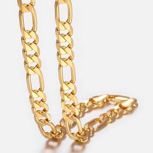 """Le donne oro Collana Trendsmax uomo riempito Collana Figaro Link for maschio monili all'ingrosso 9 millimetri 18-36"""" GNM53"""