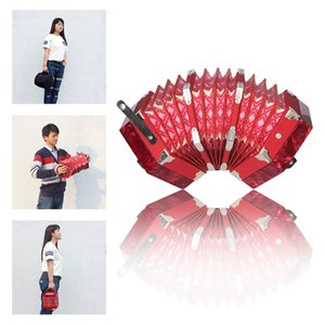 IRIN 20-Button Concertina with Carrying Bag Adult Primary Professional Playing Hexagon Accordion Keyboard Music Instruments