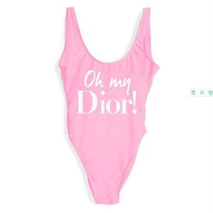 Designer Womens Bikinis Luxury Letter D Printed One-piece Swimwear Sexy Beachwear Backless Vest for Women Summer Sexy Bikini 7 Colors.