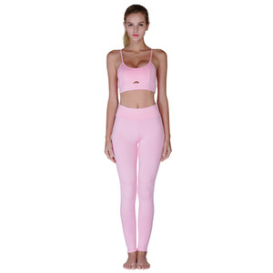 Hot Sale Yoga Sets Women Yoga Running Leggings and sexy Skinny Vest Pants Stretch Trousers Tracksuit Sporting Suits
