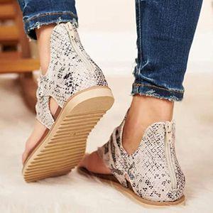 Sandales de plage d'été 2020 Femmes Sandales plates Sandales Sandales Chaussures Femme Cabane Plus Casual Flip Flop Shoes Femme 05