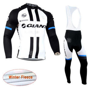 2019 New GIANT team Cycling Winter Thermal Fleece jersey (bib) pants sets men Long Sleeves bike maillot roupa ciclismo zesky