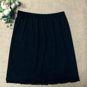 Waist Women Slip Lady Black White Short Underskirt Soft And Comfortable Cotton Length 40Cm Petticoat Half Slips New Yyy9381