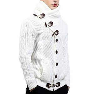 Mens Cardigan Sweaters Turtleneck Sweater Men 2020 Autumn Winter Casual Slim Full Sleeve Mens Knitted Sweaters Cardigan Hombre