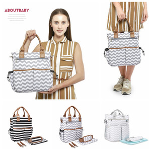 Striped Diaper Handbag Multifunction Large Capacity Nappy Mummy Bags Maternity Stollers Nursing Shoulder Bags Organizer Outdoor O_OOA6933