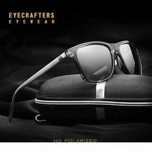 Brand Retro Aluminum Driving Sunglasses Mens Spring Hinge Vintage Polarized Sunglasses For Mens Mirrored Coating Eyewear UV400