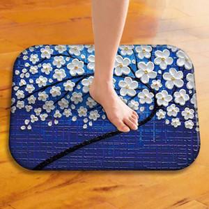 23Styles 회화 꽃 나무 홈 장식을위한 미끄럼 실내 옥외 마루 매트 Doormats 목욕 방 부엌 매트