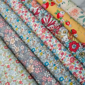 140x50cm Pastoral Blumen Plain Baumwollgewebe DIY Kinderbekleidung Cloth machen Kleider Dekoration Startseite Alibaba Express 150g / m
