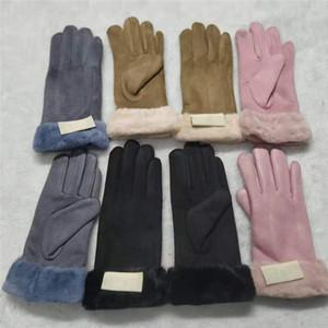 Austraila Designer Damen Handschuhe UG Touch Screen Handschuh Faux Chamois Leder-Handschuhe Winter-Vlies-volle Finger-Handschuhe Outdoor-Reithandschuh