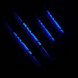 RQXR는 레인저, 장식 조명을 일렬로 판 문턱 문을 이동 4 개 스테인레스 스틸 오버레이 아크릴 문 닳게을 주도