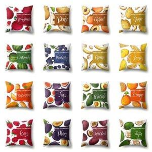 Koltuk Koltuk Soft One Yan Baskı Yastık Kapak Polyester Dekoratif Yastık Kılıfı 45x45cm Karpuz Fruit atın