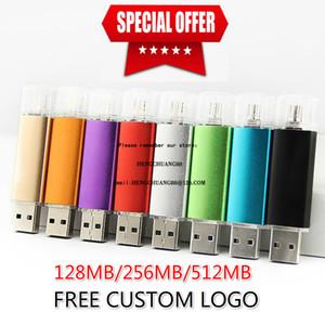 Multicolore 2 Go OTG USB Flash Drive 2 g Stockage externe Memory Stick Micro Clé USB 1 g Pendrive pour Smartphones Tablettes logo personnalisé