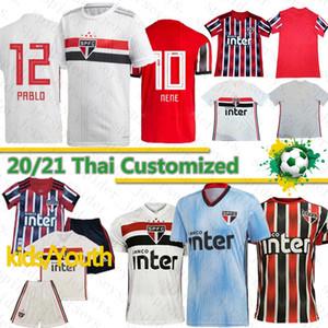 Thai 20 21 Sao Paulo FC Jersey di calcio Hernanes PABLO PATO Daniel Alves magliette di calcio TCHE TCHE ARBOLEDA Divisa camisa de Sao