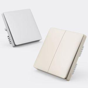 Original Xiaomi Youpin Wall Switch Aqara ZigBee Smart Light Wall Switches No Neutral Fire Wire Light Remote Control Wireless Key 3002250