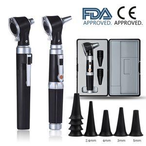 Professionale Otoscopio diagnostico Home Kit ORL Cura dell'orecchio dell'endoscopio LED portatile otoscopio Ear Cleaner con 8 punte