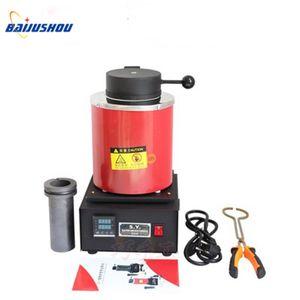 110V / 220V, mücevher eritici, Elektrikli eritme fırını altın ve gümüş kapasitesi 2 kg, pirinç eritme makinesi ile fırın eritme