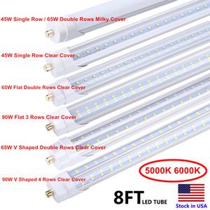 LED 튜브 8피트기구 5000K 6000K FA8 단일 핀 LED T8 8피트 튜브 65W 안정기 바이 패스 8피트 LED 형광 튜브 램프