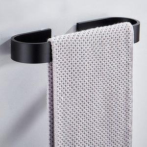 Espaço de Liga de Alumínio Kichen Toalha Titular Fixado Na Parede Organizador Cabide À Prova D 'Água de Armazenamento Do Banheiro Prateleira Prateleira Acessório