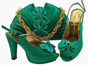 Good selling teal women pumps and bag set with butterfly design african shoes match handbag for dress MM1079,heel 11.5cm