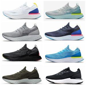 Nike Epic React Flyknit Fábrica on-line por atacado unisex Reagir Running Shoes Moda 2 Mens Sports Trainers Triplo Preto Sneakers Mulher designer
