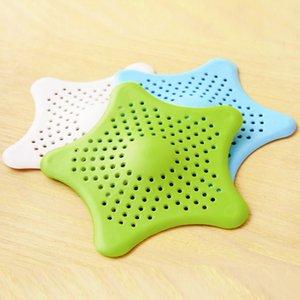 1pcs Mar Criativo Estrela Silicone Cinco ponto-Star Kitchen pia drenos Filtros filtro coletor de drenagem da tela evita o entupimento Piso
