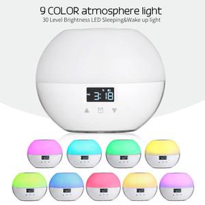Brelong Модернизированный Smart Wake-Up Light 9 Цветов Sunrise Alarm Clock Подходит Для Детей Sunrise Simulation Sleep Mode Night Light