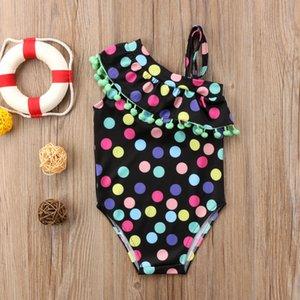 1-7Y Kids Baby Girls Swimwear Bikini Set One Shoulder Tassel Toddler Bathing Suit Children Swimsuit Beachwear Clothes