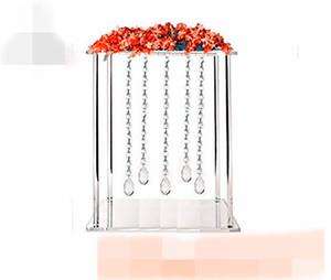 New style Luxury wedding pillars column wedding stage walkway stand crystal aisle pillar for weddings decor best01006